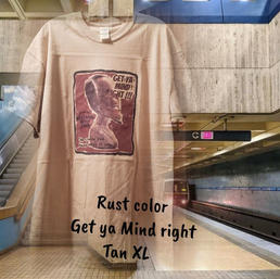 $20 rust Get ya mind Right tan XL