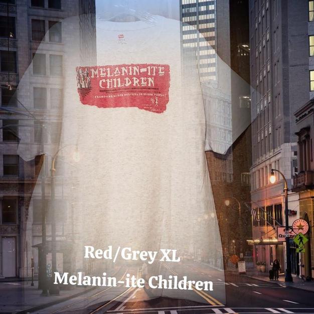$30 UNISEX red Melanin-ite Children grey XL