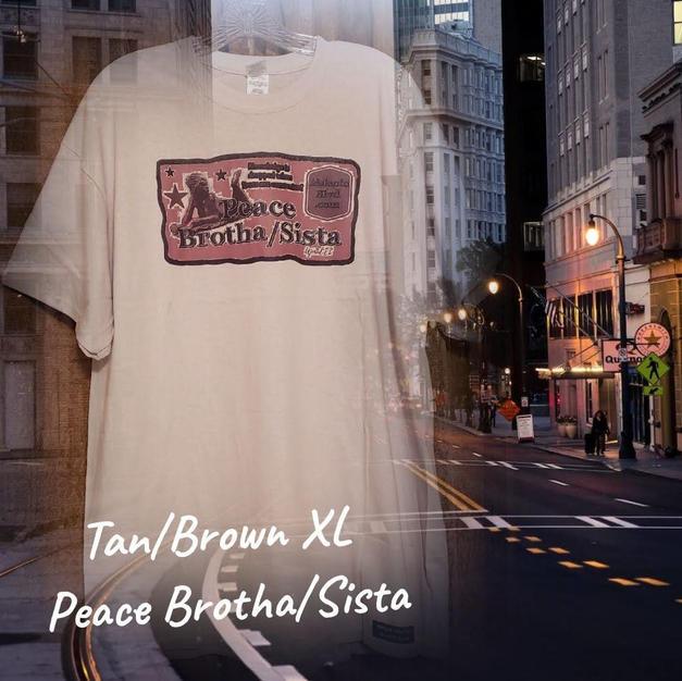 $20 brown Peace brotha/sista tan XL