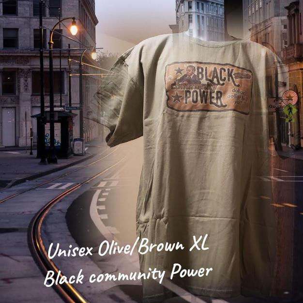 $20 UNISEX brown Black community Power olive XL