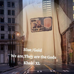 $20 blue/gold We are the Gods khaki XL