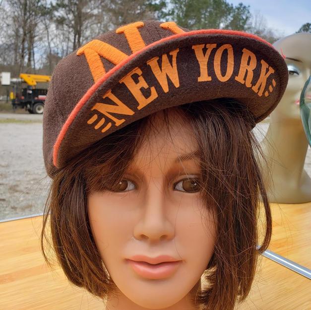 $75 UNISEX rare find orange/brown wool NY cap