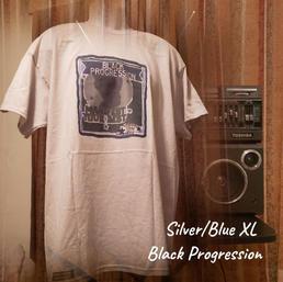 $20 UNISEX silver/blue Black progression XL