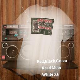 $20 UNISEX red,black,green Read Moor white XL