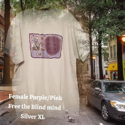 $20 Female purple/pink Free the Blind Mind silver XL