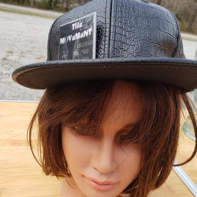 $30 UNISEX black reptile style Hip Hop cap