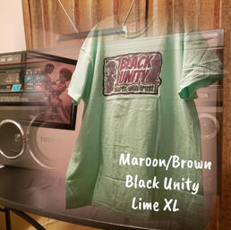 $20 UNISEX maroon/brown Black Unity starts with Trust lime green XL
