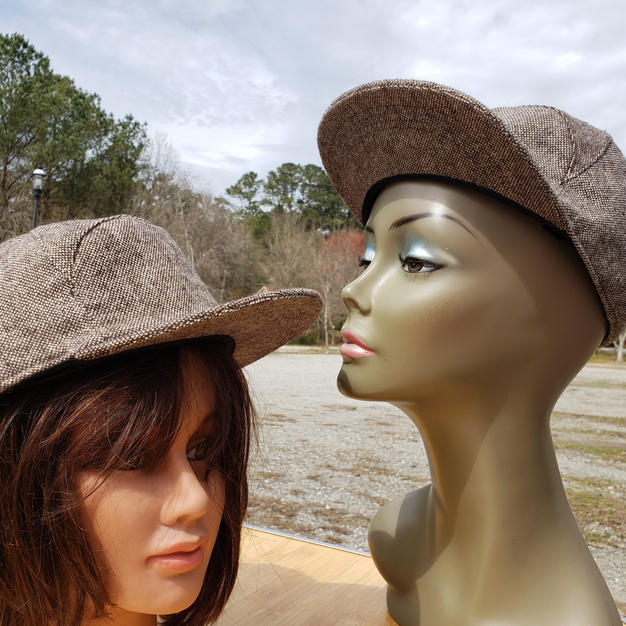 $75 UNISEX rare find brown speckled tweed ball cap