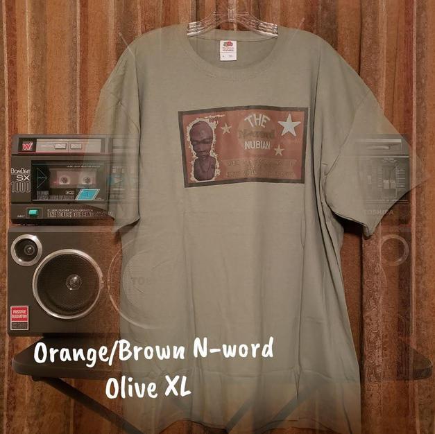 $20 orange/brown N-word olive XL