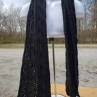 $8 Long black woven scarf