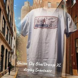 $20 UNISEX blue/orange disPlay greatness skly blue XL