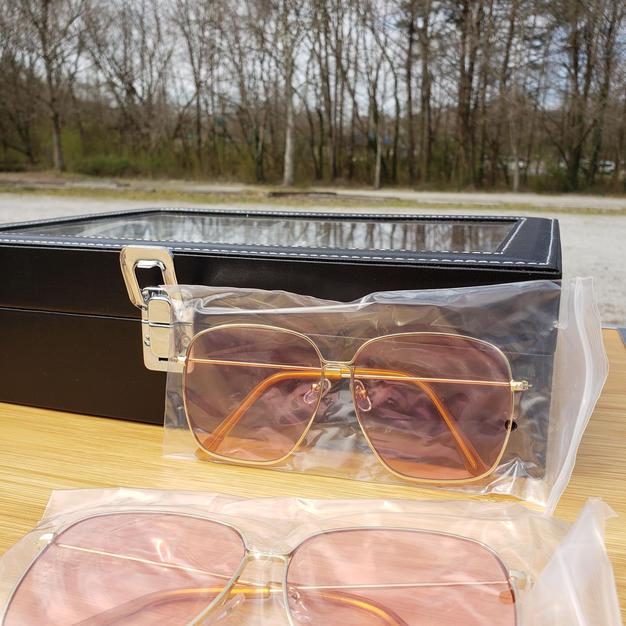 $35 pink sunglasses