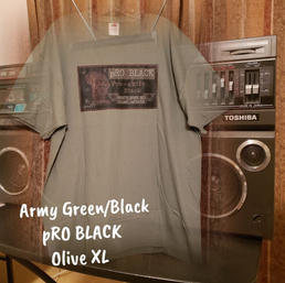 $20 army green/black pRO Black olive XL