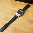$20 black pre-owned Casio calculator watch