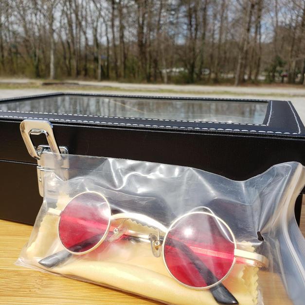 $40 rare red small sunglasses