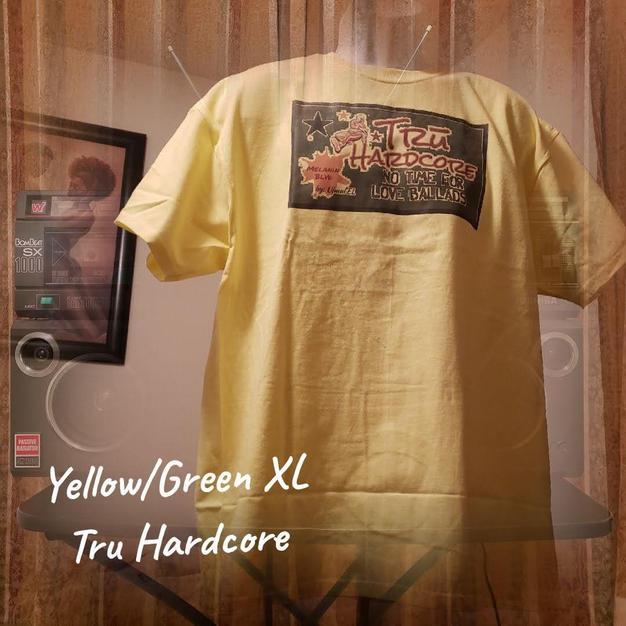 $20 green Tru Hardcore yellow XL