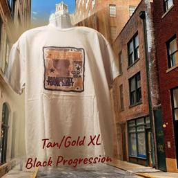 $20 UNISEX gold Black progression tan XL