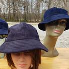 $40 UNISEX navy blue corduroy bucket hat