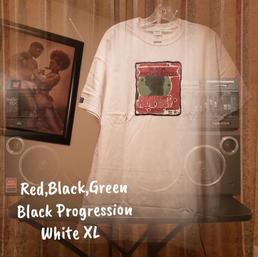 $20 UNISEX red,black,green Black progression white XL