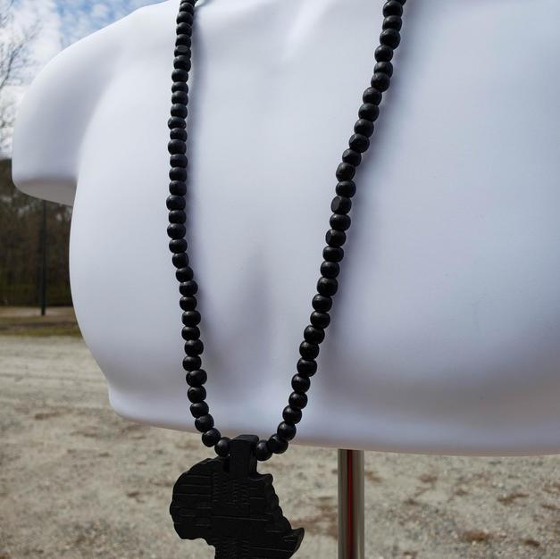 $25 black wood Africa beads