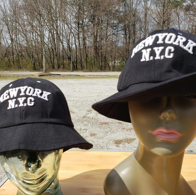 $45 UNISEX black NYC bucket hat