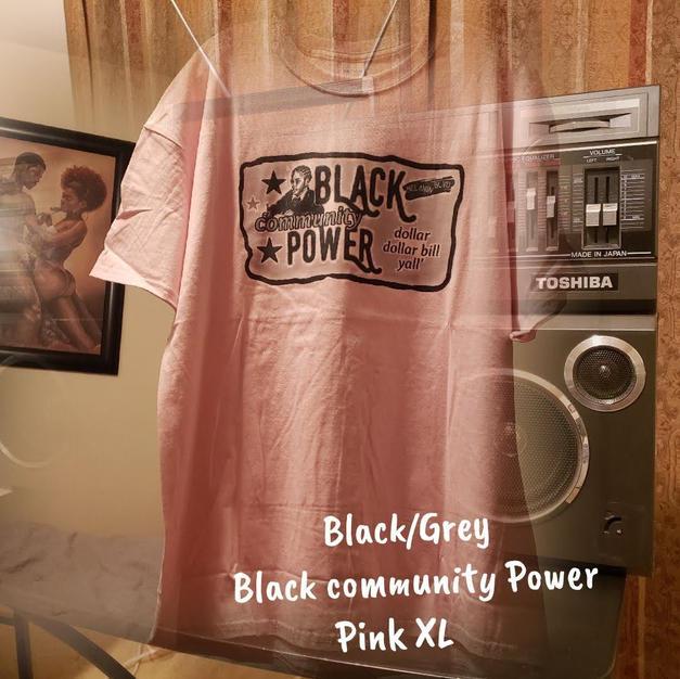 $20 black/grey Black community Power pink XL
