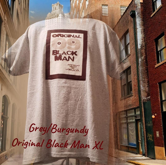 $20 grey/burgundy Original Black man XL
