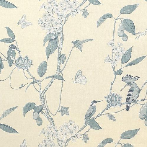 The Navigator's Garden - 'Monochrome' Blue on Ivory