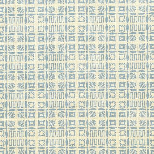 Souvigny Check - Mid Blue