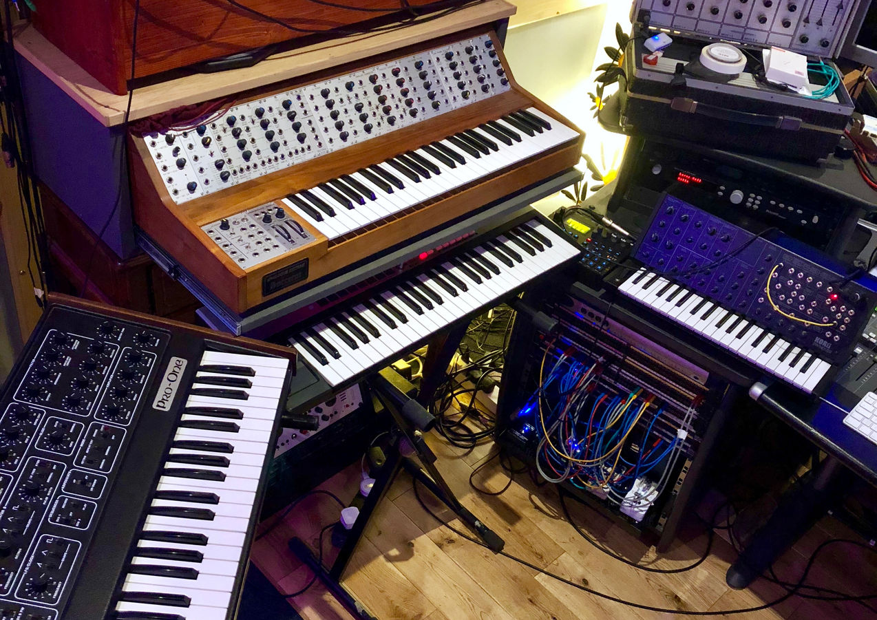 Synth overdub session