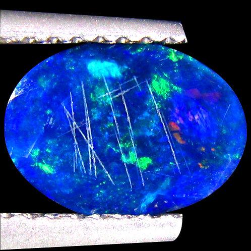Камень черный опал натуральный 1.09 карат