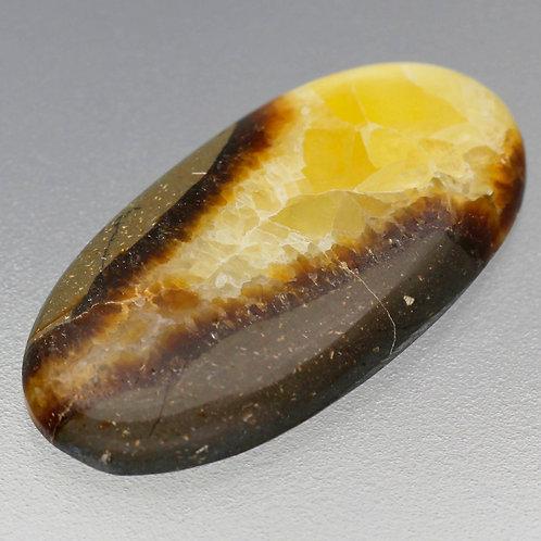 Камень желтый септариан натуральный 32.50 карат