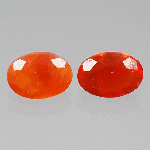 Камень радужный опал натуральный пара 1.14 карат