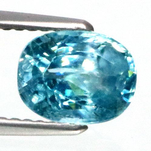 Камень голубой Циркон натуральный 2.60 карат