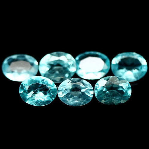 Камень апатит натуральный 2.41карат 7шт