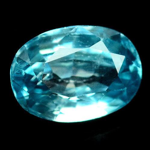 Камень голубой Циркон натуральный 3.01 карат
