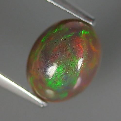 Камень чёрный опал натуральный 1.49 карат