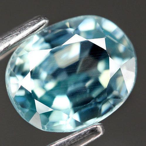 Камень голубой Циркон натуральный 1.44 карат