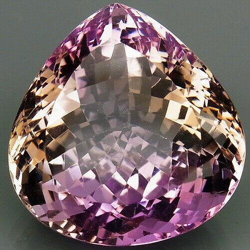 Камень фиолетово-золотистый Аметрин натуральный 38.33 карат