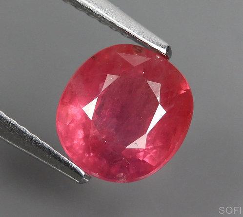 ☯Камень розовый сапфир натуральный 2.72 карат