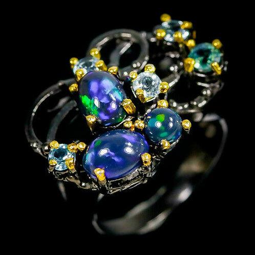 Серебряное кольцо с опалом натуральным