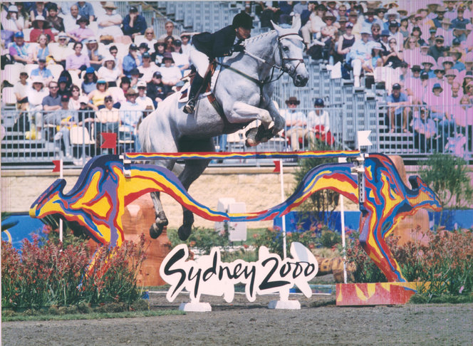 Toni and Ghandy at the Sydney 2000 Olympic games.