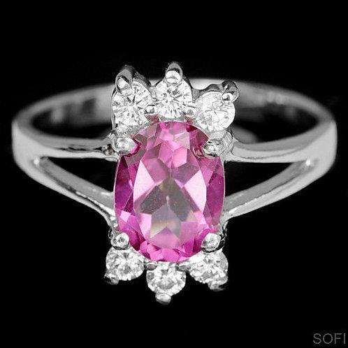 ☯Серебряное кольцо с рубином