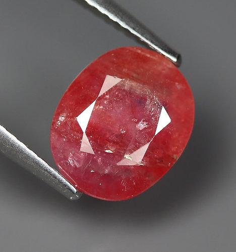 Камень розовый сапфир натуральный 3.00 карат
