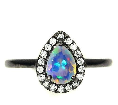 ☯Серебряное кольцо с опалом натуральным