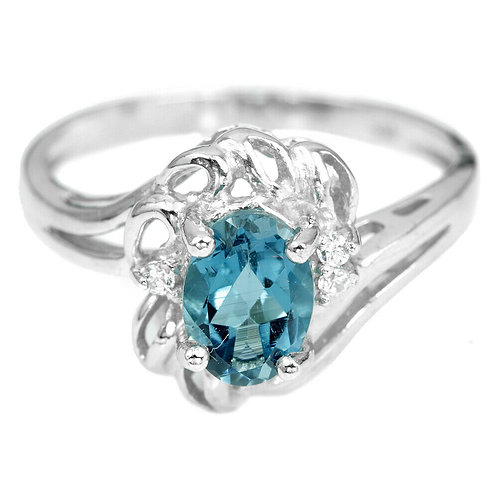 ☯Серебряное кольцо с топазом натуральным