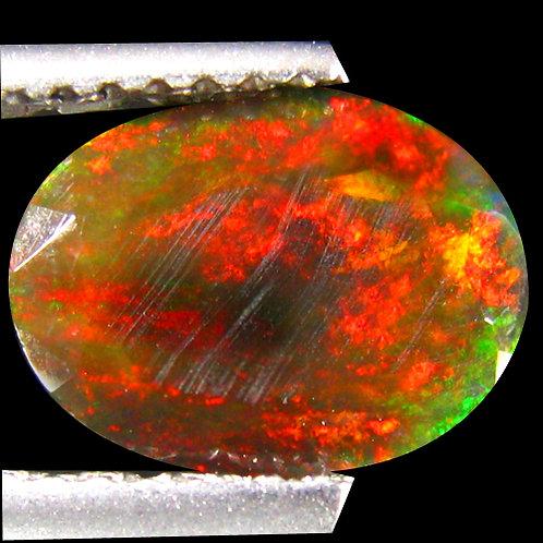 Камень черный опал натуральный 1.18 карат