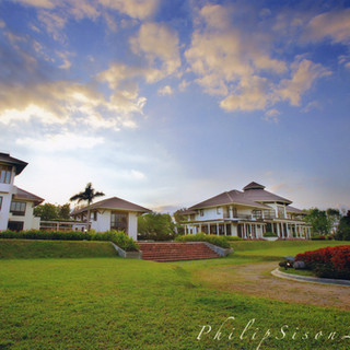 The view of Levely Manor, Library and Guest House by Philip Sison.