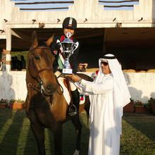 Toni and Globe Platinum Just Jewels win in the Arab League, CSI-Bahrain.