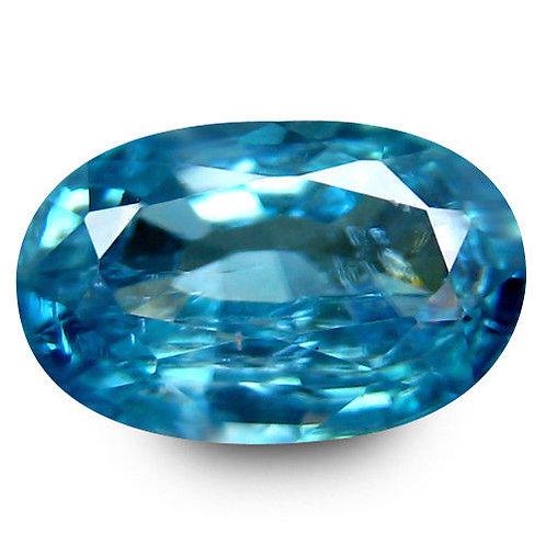 Камень голубой Циркон натуральный 2.49 карат